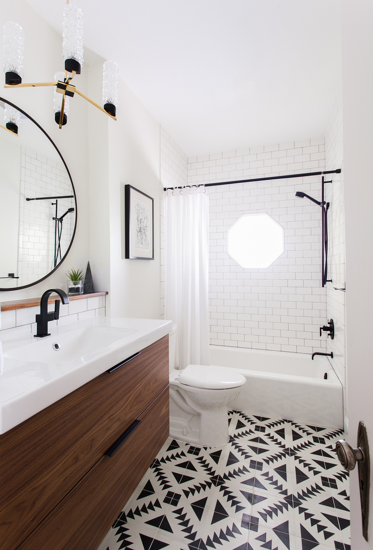 INSPIRATION // Mosaic Tile Floors in Bathrooms. —