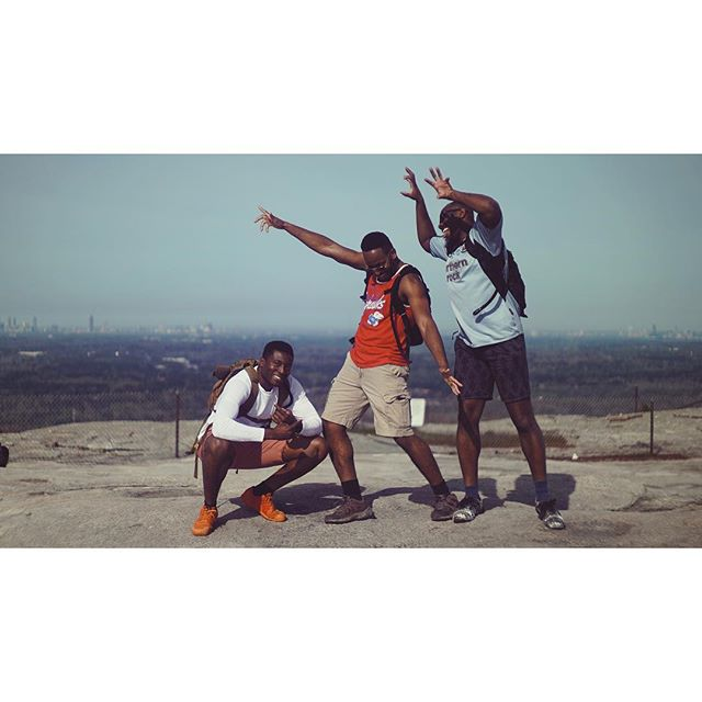 idle day hike w/ 3 outta 4 akpolo brothers . . . . #stonemountain #morninghike #idleday #latergram #stonemountainpark #civilwar #makingmovies #atlanta #vsco #vscocam #georgia #filmgeorgia #traveljob #terminus #hike