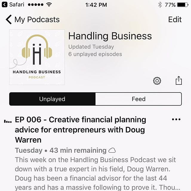 "Are you an entrepreneur who might be worried about your future? Putting money away for retirement is oftentimes the last thing that business owners want to do because you want to be able to invest your money into your business when you want to. In this podcast interview we sit down with Doug Warren, a leading financial expert who has written 7 books on successful retirement planning and has been quoted in Tony Robbins' newest book ""Money: Master the Game"". Doug delivers real, practical advice for entrepreneurs who want to plan for their future, but not the traditional way. Listen now in iTunes Podcasts, Google Play or SoundCloud. #imhandlingbusiness #businessmotivation #handlebusinesslikeaboss #entrepreneur #businesspodcast #podcast #businessadvice #dogwalking #petsitting #cardetailing #housecleaning #poolcleaning #tutor #massage #personaltrainer #personalassistant #tonyrobbins #moneymasterthegame #financialfreedom #financialplanning"