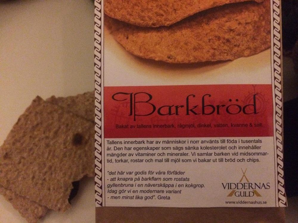 pine bark bread!