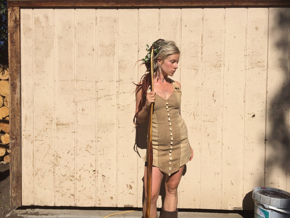 Deer and antelope skin dress