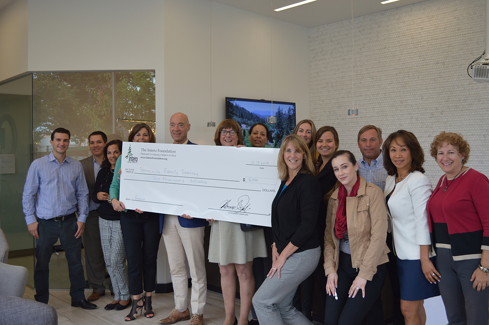 Peninsula Family Services Check Presentation