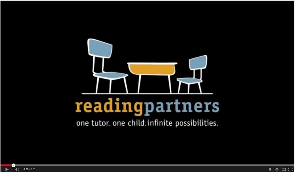 Reading Partners spotlight screen cap