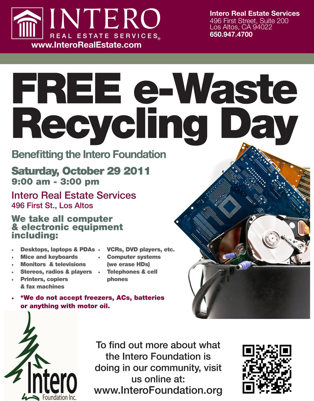 Free eWaste Recycling Day in Los Altos