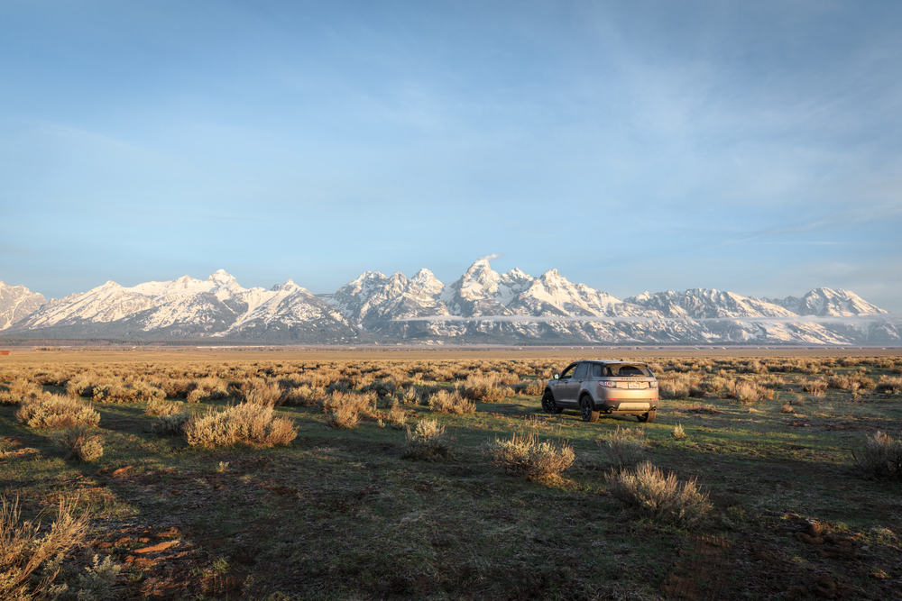 Land Rover and the Grand Tetons: Landrover