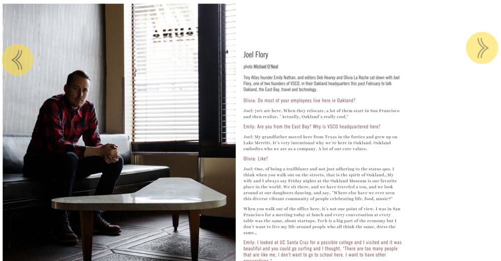 Joel Flory, founder of VSCO, for Tiny Atlas Quarterly