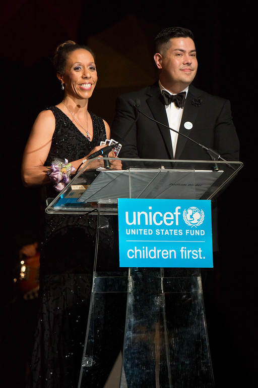 2016 UNICEF's Hope Gala Chairs Kim K.W. Rucker and Mark Mitsukawa.  © 2016   Soleil Media for UNICEF