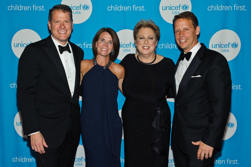 Gala Chair John Luce, Committee Member Amy Brown, UNICEF USA President & CEO Caryl M. Stern and Midwest Regional Board Chair Rob Brown (c)2017 Timothy Hiatt Photography