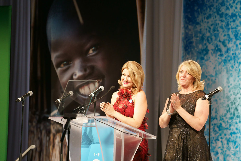 UNICEF Gala Chicago 2018 co-chairs Sheilah Burnham and Kim Cornell. Photo Credit: Timothy Hiatt Photography for UNICEF