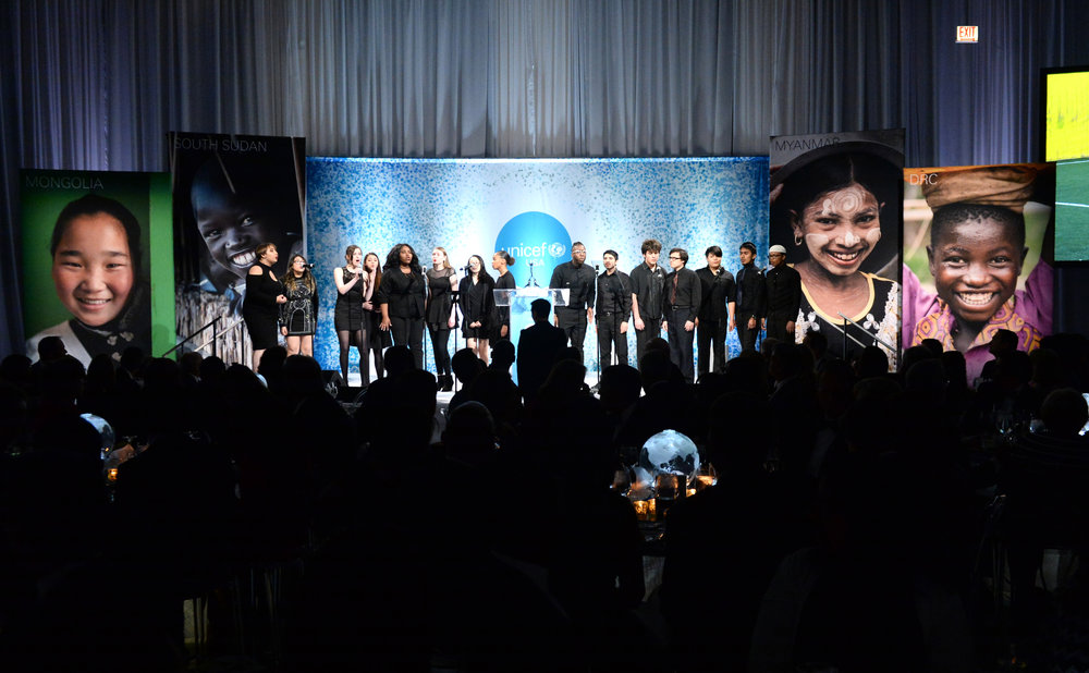 Musicality performs at the UNICEF Gala Chicago 2018. Photo credit: Daniel Boczarski/Getty Images for UNICEF