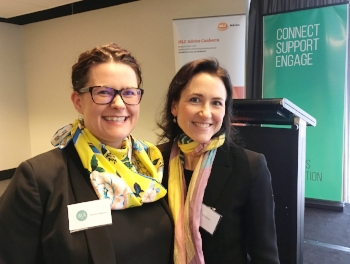 Jennifer Wyborn with President of WLA ACT, Prue Bindon