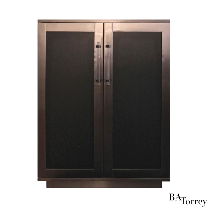 Jax Metal-wrapped Bar Cabinet - B.A. Torrey