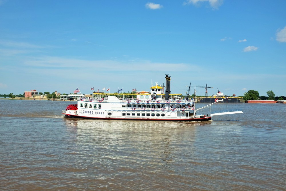 Taking a jazz tour on the Mississippi River.