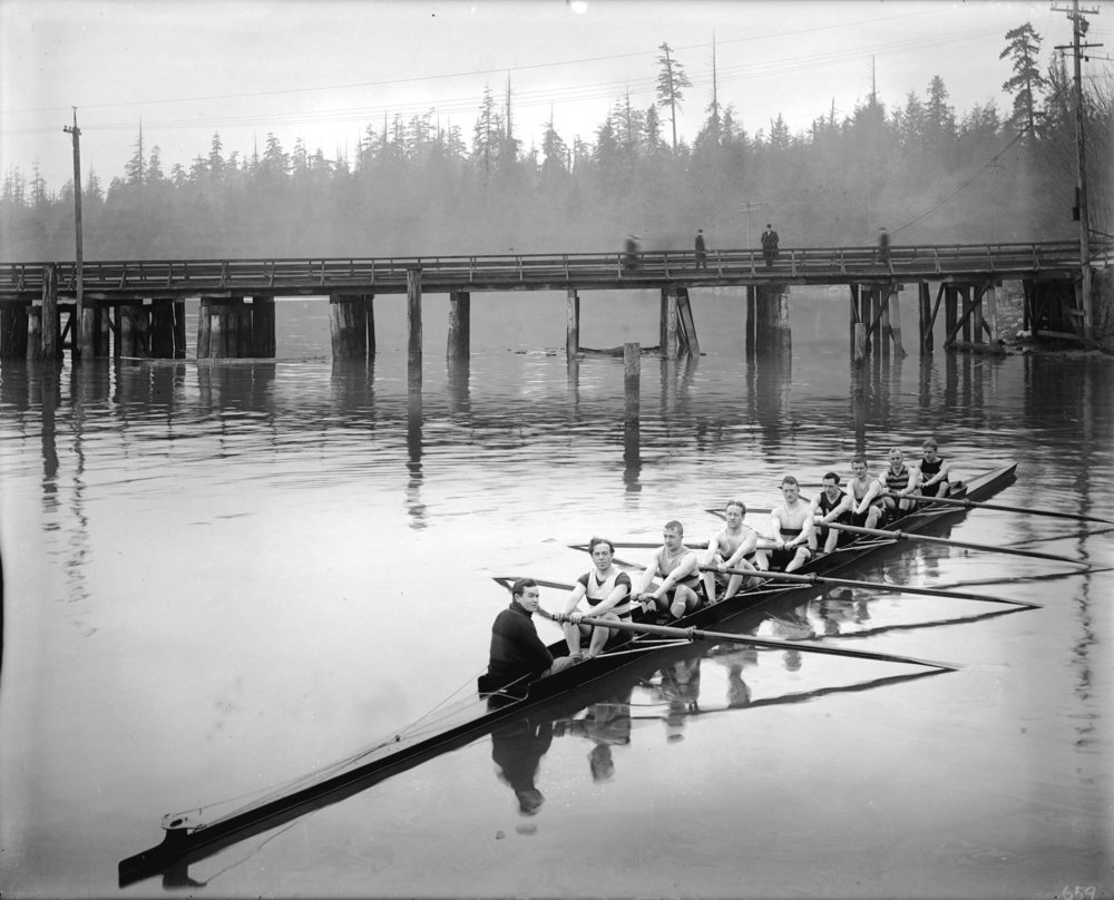 Image source: The City of Vancouver Archives  Reference Code:AM1535-: CVA 99-73  Item : CVA 99-73 - Vancouver Rowing Club [Coal Harbour, showing bridge to Stanley Park]  http://searcharchives.vancouver.ca/vancouver-rowing-club-coal-harbour-showing-bridge-to-stanley-park