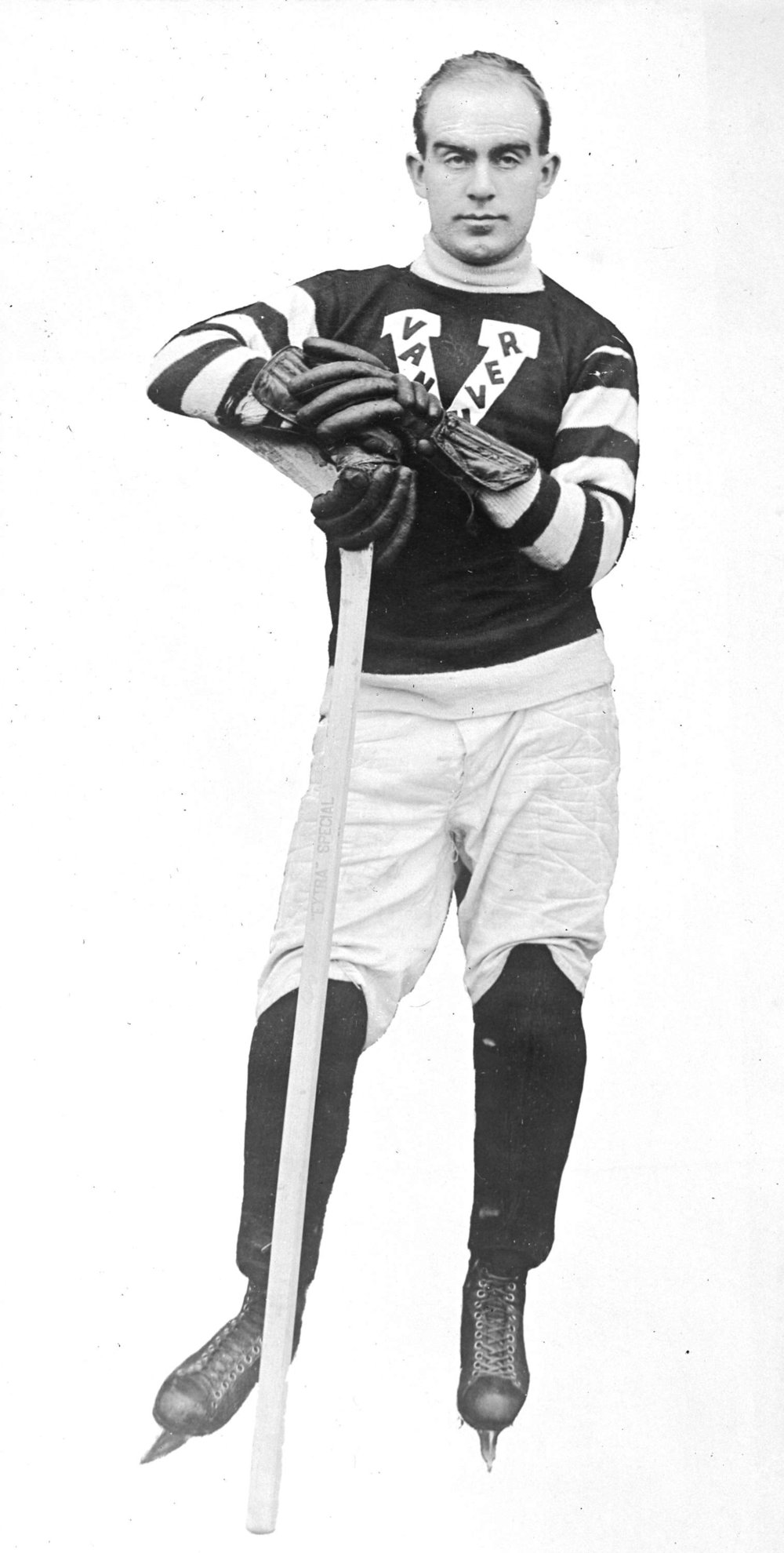"""Image source: The City of Vancouver Archives  Reference Code:AM1535-: CVA 99-778  Item : CVA 99-778 - [Copy photo of hockey player Fred """"Cyclone"""" Taylor]  http://searcharchives.vancouver.ca/copy-photo-of-hockey-player-fred-cyclone-taylor"""