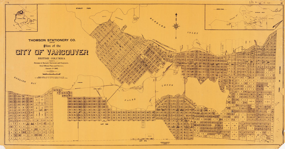 Image Source: The City of Vancouver Archives  Reference Code: AM1594-: 2015-055.1  Item : 2015-055.1 - Plan of the City of Vancouver   http://searcharchives.vancouver.ca/plan-of-city-of-vancouver