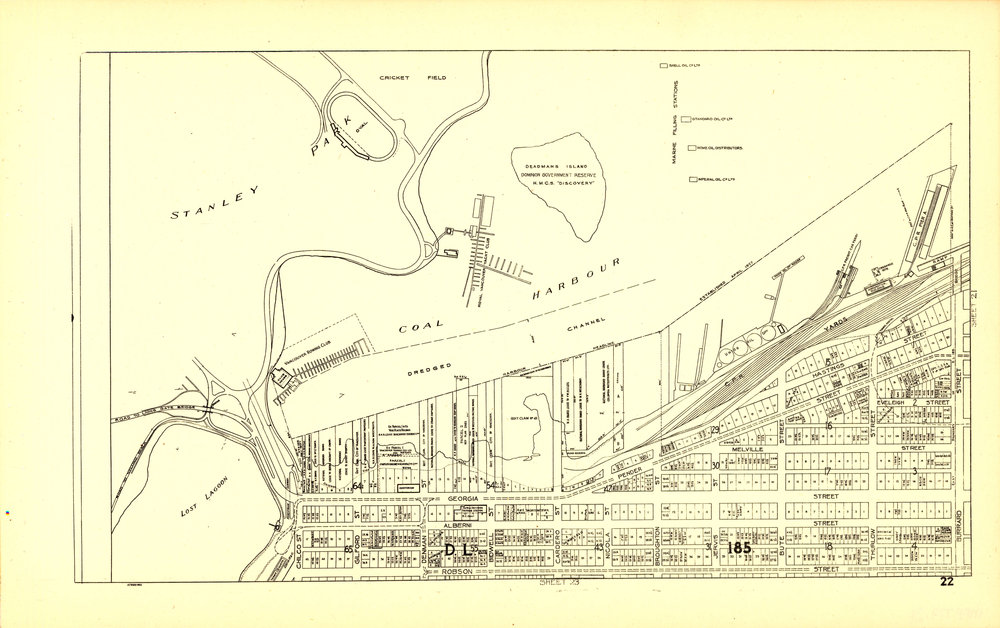 Image Source: The City of Vancouver Archives  Reference Code: AM1594-MAP 779-: MAP 779.24  Item : MAP 779.24 - Sheet 22 : Stanley Park to Burrard Street and waterfront to Robson Street   http://searcharchives.vancouver.ca/sheet-22-stanley-park-to-burrard-street-and-waterfront-to-robson-street-2