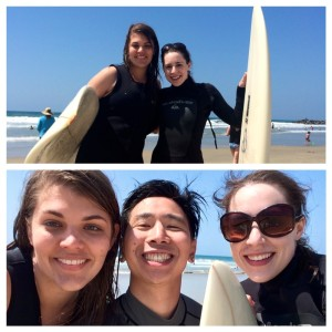 Wetsuits make us look like legit surfers, but I promise, IT'S ALL A MIRAGE. Here we were with our surfing instructor/new friend Justin.