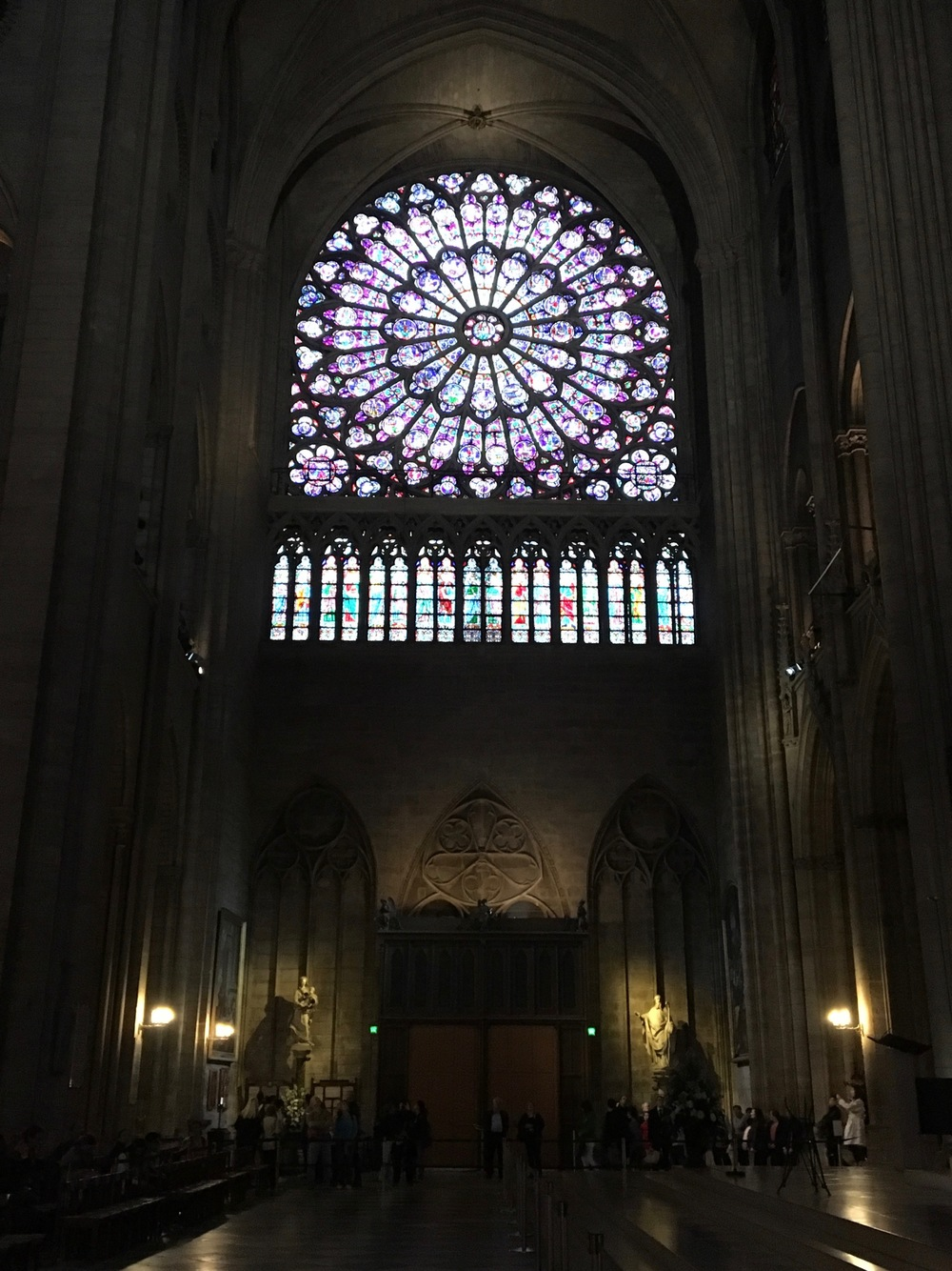 One of the two rose windows of Notre Dame