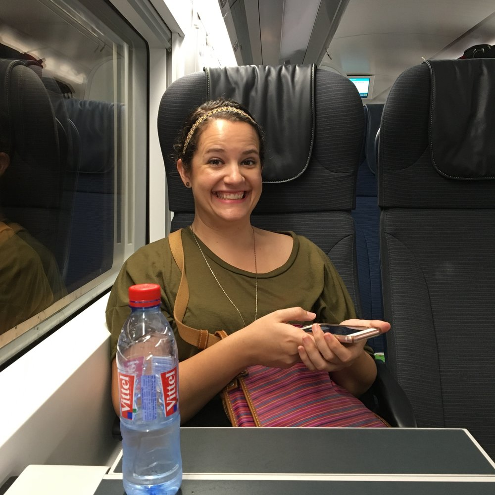 Mar in the Chunnel train. (Don't mind us, just barreling through European waterways at mind-blowing speeds.)
