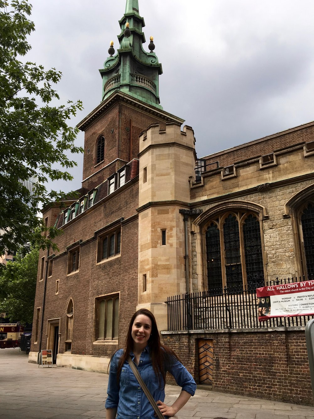 Just standing in front of the oldest church building in London, taking credit for my distant relative's heroic acts