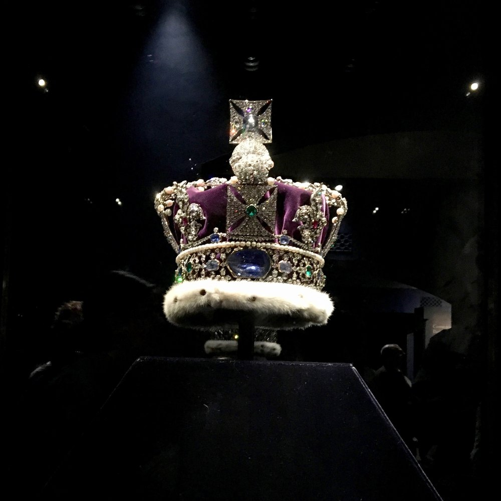 We weren't supposed to take pictures of the Crown Jewels, but what can I say, I am a rebel.