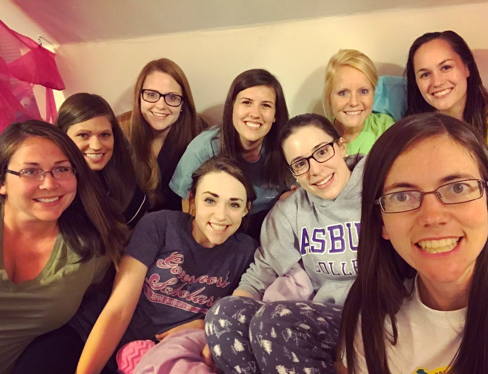 I highly HIGHLY recommend having a massive slumber party the night before your wedding.