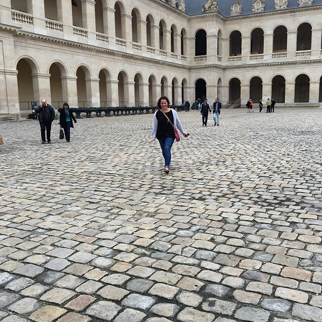 ATL-bound to see the wedding of my little French croissant, @marieclairedj — pictured here skipping around (or doing parkour?) in the Musée de l'Armée because of course she would. ❤️