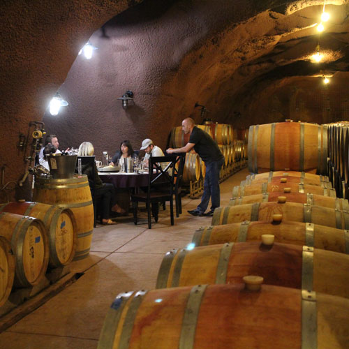 cave tasting at conn valley napa winery