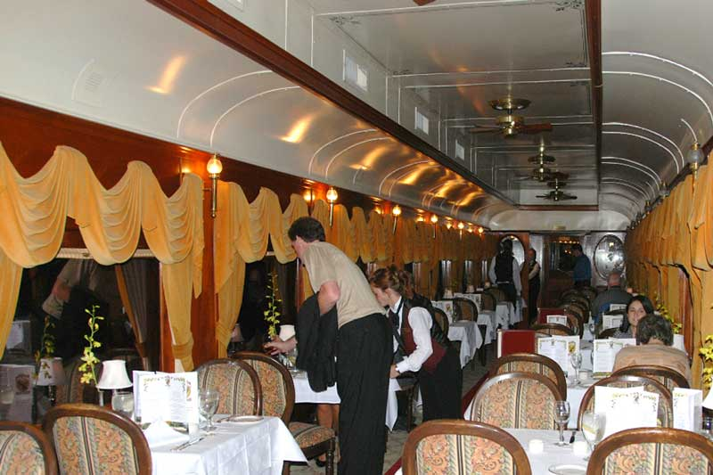Dining on the Napa Wine Train