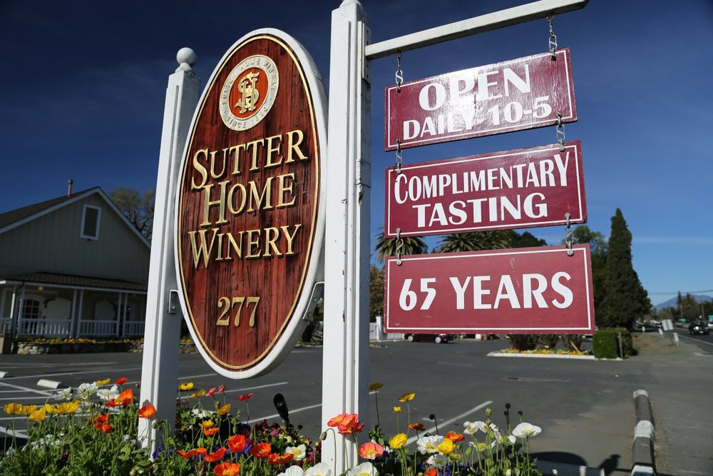 Sutter Home Winery in Napa.  Photo Credit:  Napa Wine Project