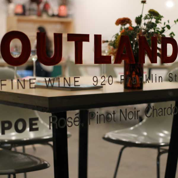 Outland Tasting Room Napa