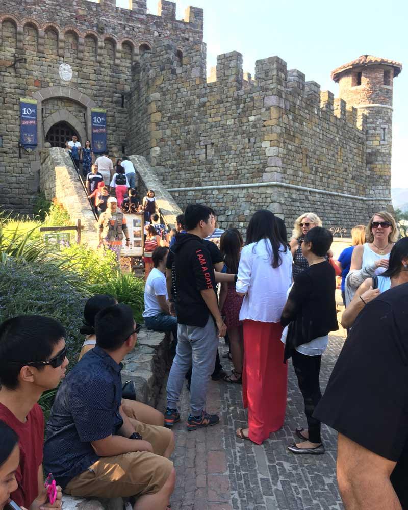Busy Castello di Amorosa, Napa Castle