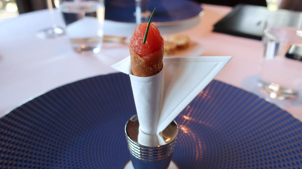 The Amuse Bouche arrives at The French Laundry