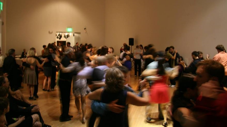 A milonga at TangoHelena's 2015 festival. Lots of navigation going on.