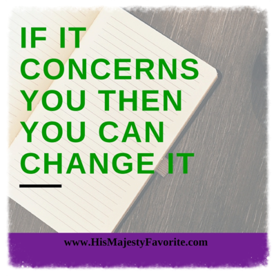 if it concerns you then you can change it