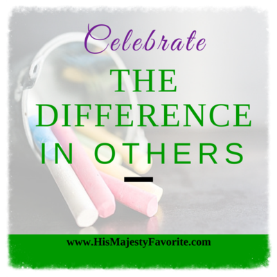 celebrate the difference in others