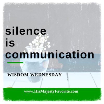 silence is communication