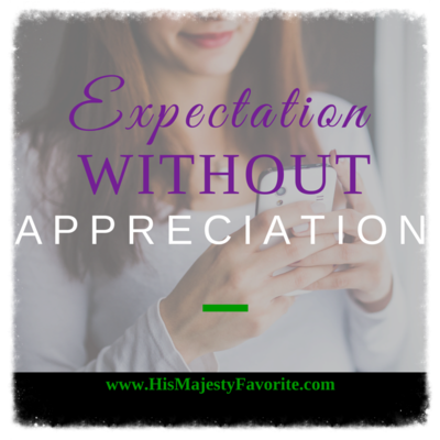 expectation without appreciation