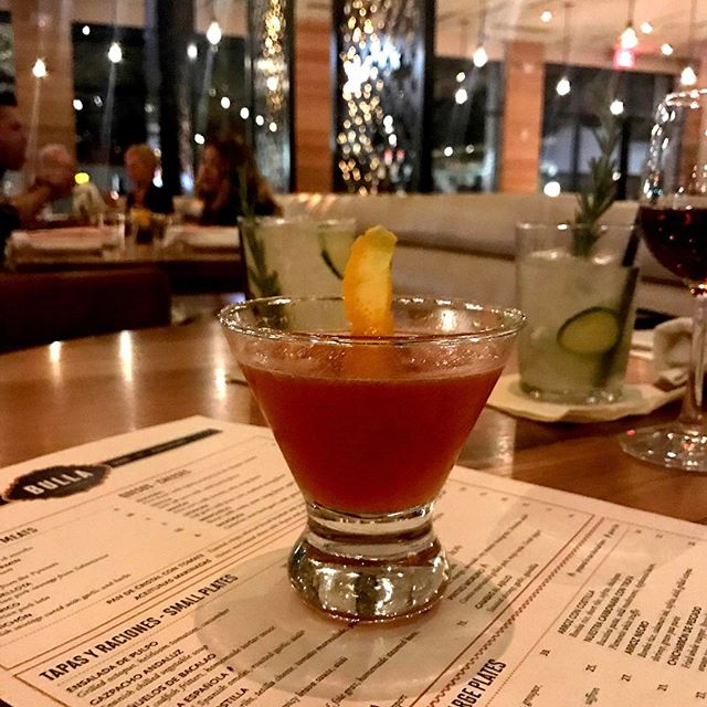 #breaktime A great end to the #weekend and good start to the week. I love #dining paired with good conversation. Topping it off with a handcrafted cocktail mixed with #bourbon is a plus. I'm ready for my Monday #5am rendezvous . #whiskey #sundaynight #bourbongirl