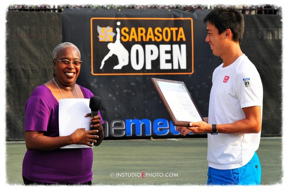 2010 Sarasota open Champion kei Nishikori