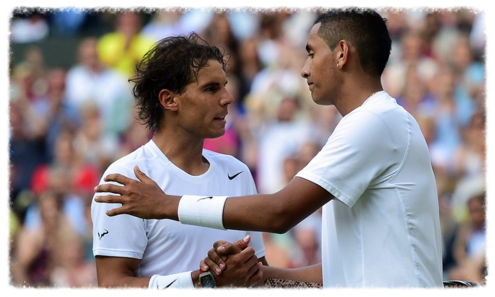2014 Champion Nick Kyrgios ( Pictured above with rafael nadal at wimbledon)