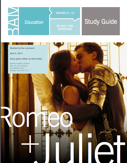 Student and Teacher Guides.. - CLICK HERE TO VIEW: Romeo and Juliet Guide