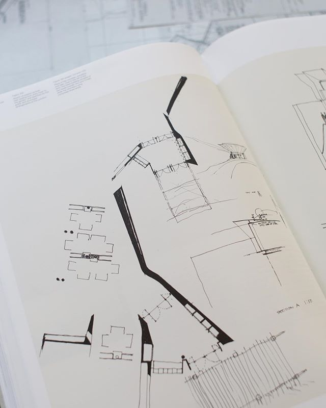 Working sketches for Moonlight Head Hotel's entry, canopy and foyer. Moonlight Head, Victoria, 2000 . . . . . . . #glennmurcutt #glennmurcuttmasterclass #architecture #architecturelovers #australianarchitecture #archidaily #design #designinspiration #book #glennmurcuttfolio #touchtheearthlightly #architect #book #sydneylocal #architecturebooks #australiandesign #architecturaldrawing #architecturalplan #moonlightheadhotel