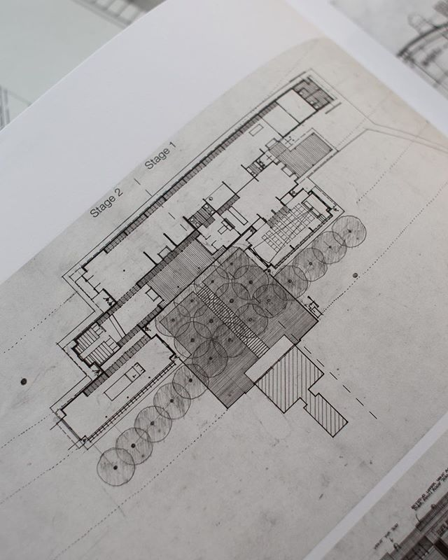 Plan drawing. Res Publica. Museum of Local History and Tourist Office, Kempsey, NSW 1976-79/1982-88 . . . . . . . #glennmurcutt #glennmurcuttmasterclass #architecture #architecturelovers #australianarchitecture #archidaily #design #designinspiration #book #glennmurcuttfolio #touchtheearthlightly #architect #book #sydneylocal #architecturebooks #australiandesign #architecturaldrawing