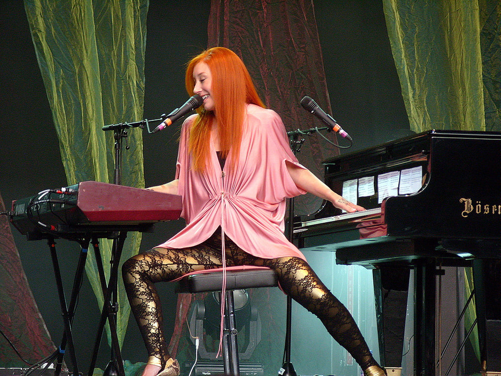 Tori Amos at her piano and keyboard