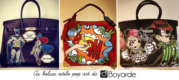 bolsas customizadas boyarde pop art