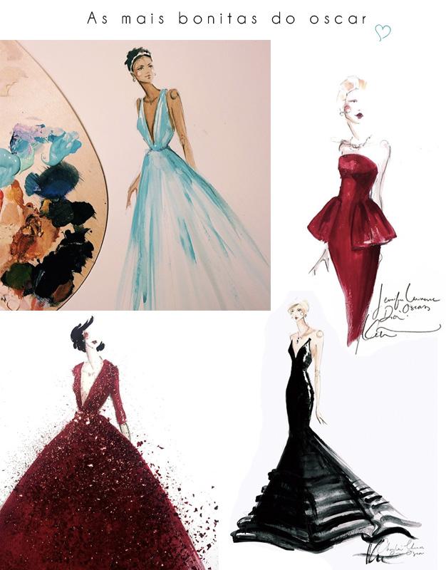 ilustras Oscar paper fashion