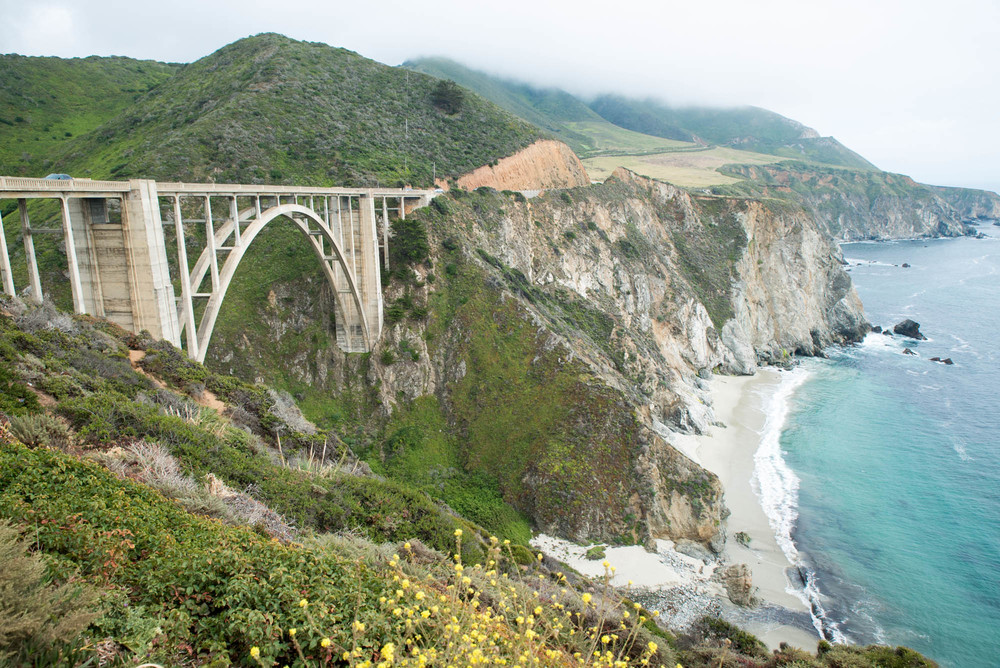 Bixby Bridge is one of my favorite places along the PCH. I'm sure you can see why. This photo was taken on the north end of the bridge, just after we crossed it.