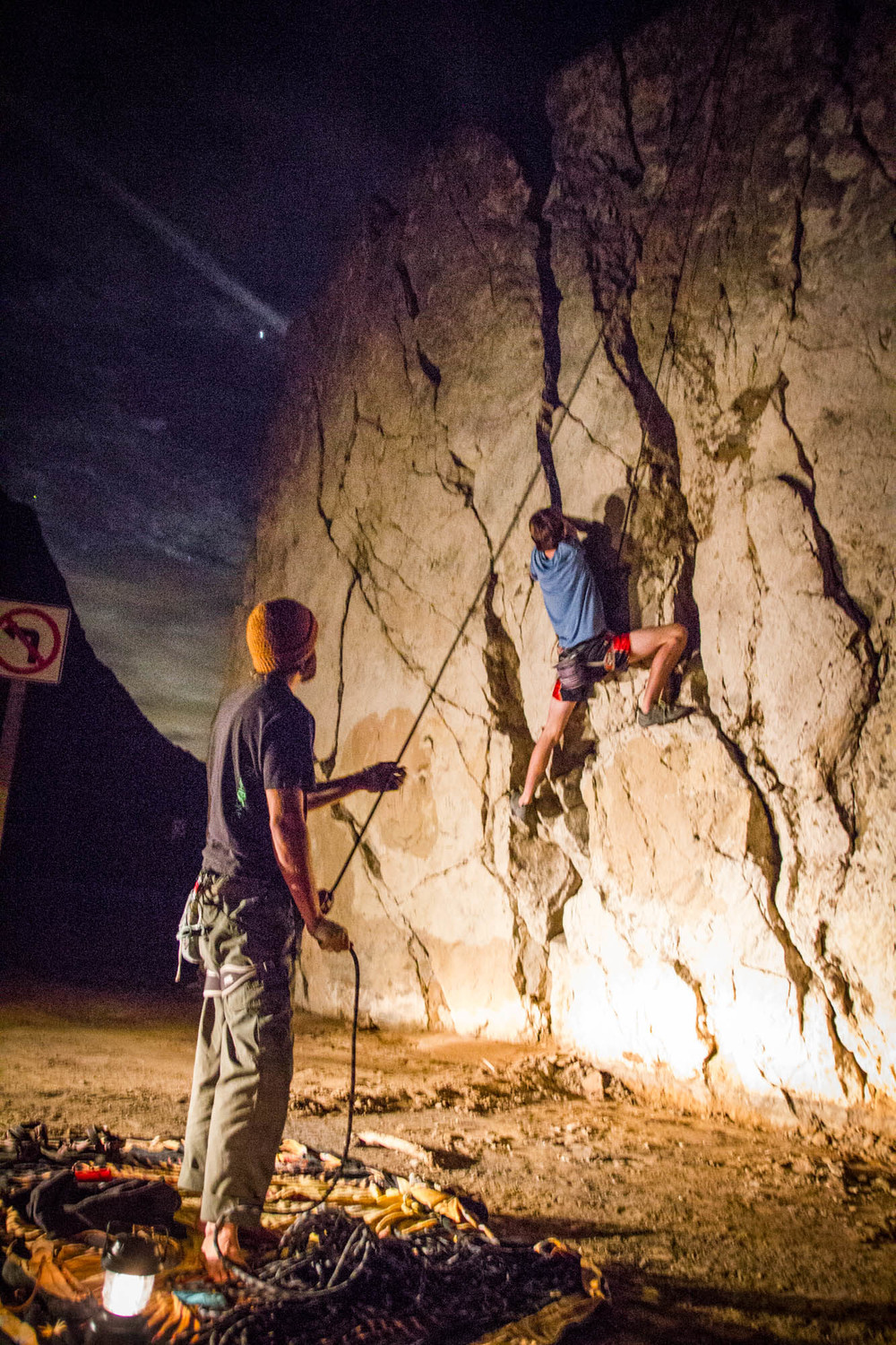 It's not a terribly long distance, but climbing took some time for them. A testament to the difficulty of their task.